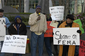 Katrina survivors demonstrate in Oakland  2006 Scott Braley